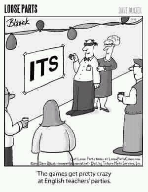 Pin the apostrophe on the its