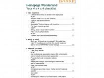 Homepage checklist