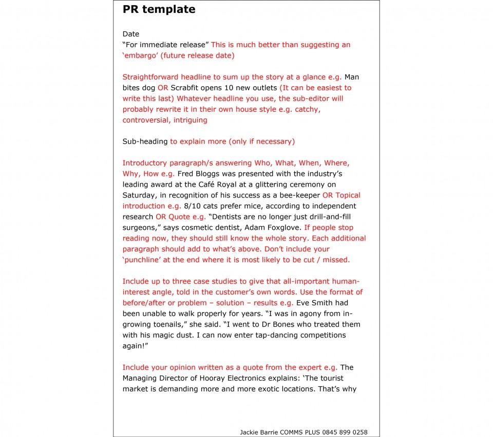 PR template