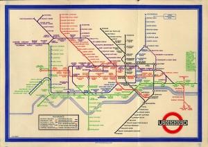 Original tube map design by Harry Beck