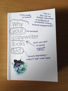 Sad copywriter