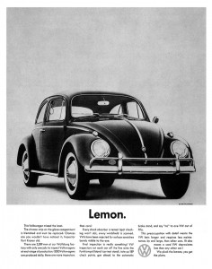 vw lemon ad