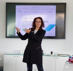 Jackie Barrie speaking at CopyCon